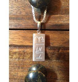 Männer Silberkette/Anhänger-Kraftsymbol Persönlichkeitsfördernd