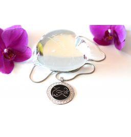 Silberkette/Anhänger - Meister-Kraftsymbol Unendlichkeitszeichen-Harmonisiert-Energieerhöhend